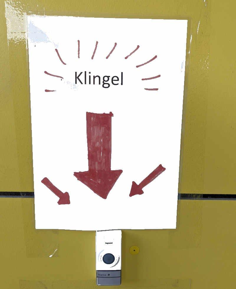 Klingel Schild lustiges Foto