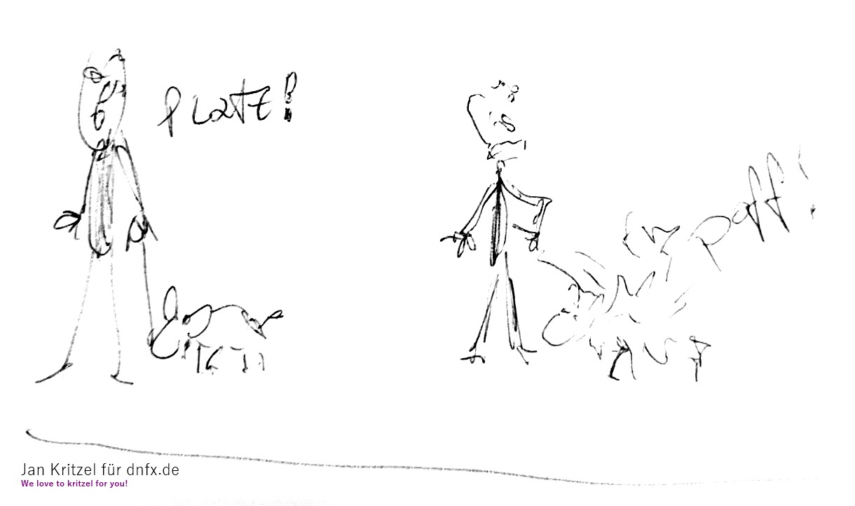 Hunde Cartoon, nicht Hundehasser, aber etwas sarkastisch
