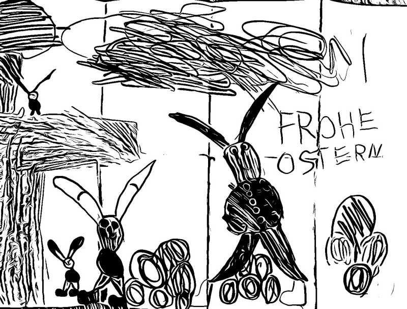 Frohe Ostern Cartoon Osterhasen lustig sarkastisch